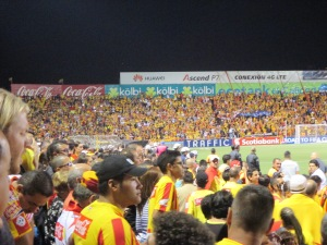 Loved the energy of the crowd. Heredia vs. Honduras (Heredia won!)